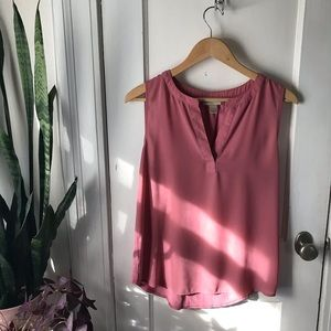 Pink sleeveless blouse from LOFT